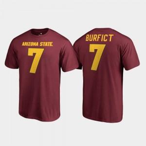 Name & Number Vontaze Burfict College T-Shirt Arizona State Sun Devils Legends #7 Mens Maroon