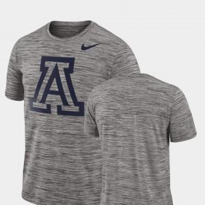 Performance College T-Shirt For Men 2018 Player Travel Legend Charcoal University of Arizona