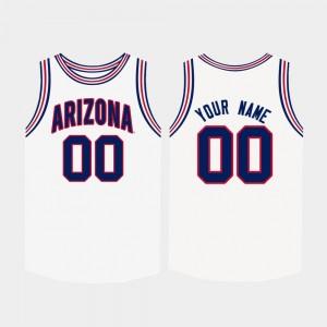Arizona Wildcats White Men's College Custom Jersey Basketball #00