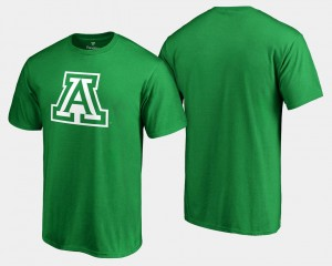 White Logo Big & Tall College T-Shirt Kelly Green St. Patrick's Day UofA For Men's