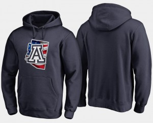 University of Arizona Navy For Men's Big & Tall College Hoodie Banner State