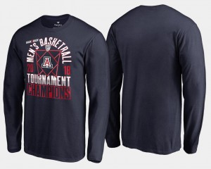 2018 Pac-12 Champions Long Sleeve Navy College T-Shirt Men's Basketball Conference Tournament Wildcats