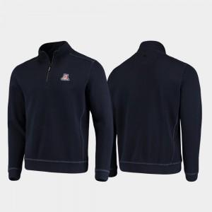 College Jacket Sport Nassau Half-Zip Pullover Tommy Bahama Navy Arizona Mens