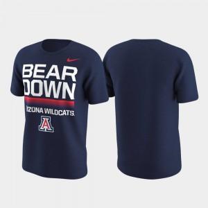 College T-Shirt Performance Navy Local Verbiage University of Arizona Men's