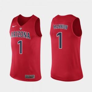 Arizona Wildcats #1 Men's Nico Mannion College Jersey Authentic Hyper Elite Performance Red