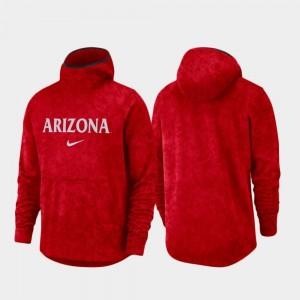 Spotlight College Hoodie Red Basketball Team Logo Pullover Mens U of A