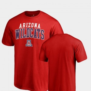 Square Up Red Men's College T-Shirt U of A