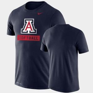 For Men Drop Legend Performance Softball Navy College T-Shirt Arizona Wildcats