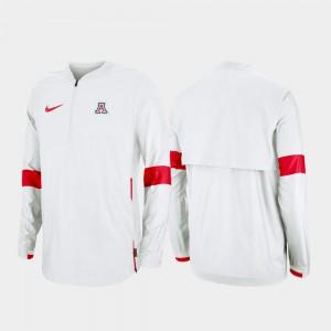 College Jacket 2019 Coaches Sideline Quarter-Zip White Mens Arizona Wildcats