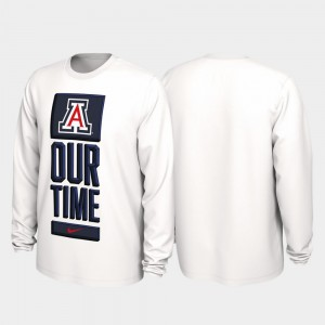 College T-Shirt For Men UofA White 2020 March Madness Our Time Bench Legend