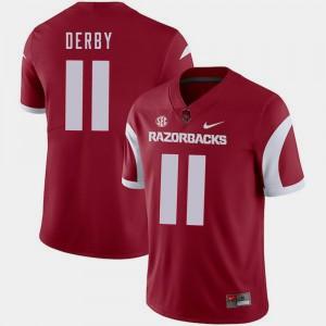 A.J. Derby College Jersey Mens Arkansas Football #11 Cardinal