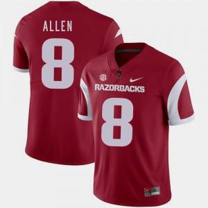#8 Football Arkansas Razorbacks Austin Allen College Jersey Mens Cardinal