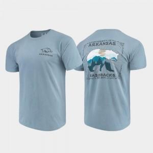 Comfort Colors College T-Shirt State Scenery University of Arkansas Blue Mens