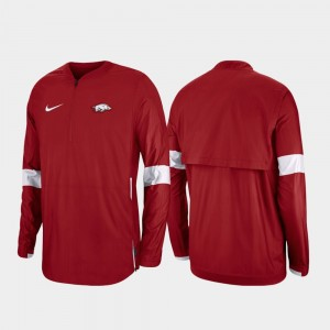 Quarter-Zip College Jacket Cardinal Men's 2019 Coaches Sideline Razorbacks