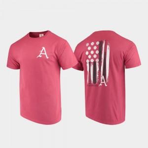 College T-Shirt Baseball Flag Razorbacks Mens Cardinal Comfort Colors