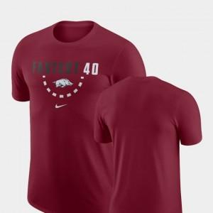 College T-Shirt For Men's Basketball Team Cardinal Arkansas