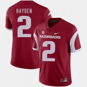 #2 Football Chase Hayden College Jersey Mens Razorbacks Cardinal