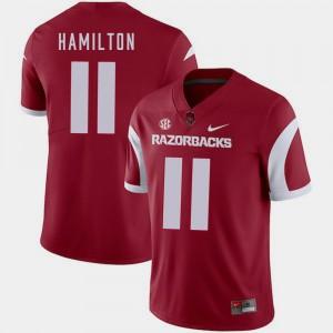 Cobi Hamilton College Jersey Football Men #11 Arkansas Cardinal