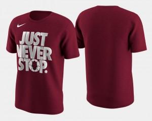 Crimson Basketball Tournament Just Never Stop College T-Shirt Men March Madness Selection Sunday Razorbacks
