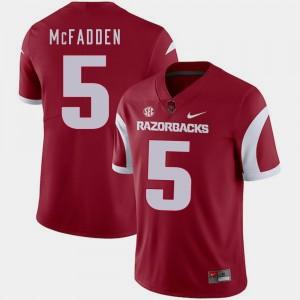 Cardinal Razorbacks Football Darren McFadden College Jersey Men's #5