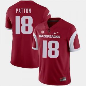 Jeremy Patton College Jersey Cardinal Arkansas Razorbacks For Men #18 Football