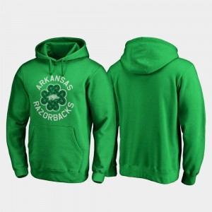 Men Arkansas Luck Tradition Kelly Green College Hoodie St. Patrick's Day