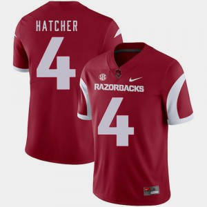 Football Razorbacks Keon Hatcher College Jersey For Men's #4 Cardinal