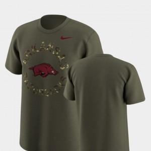 Olive Men Legend Camo Arkansas Razorbacks College T-Shirt