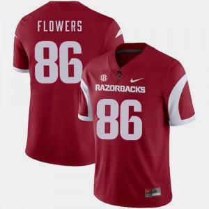 Cardinal #86 Men's Football Arkansas Trey Flowers College Jersey