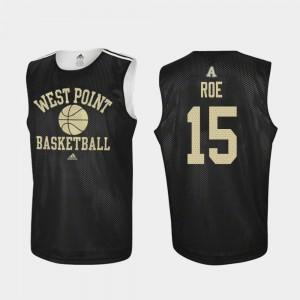 Men's #15 Practice Adam Roe College Jersey West Point Black Basketball