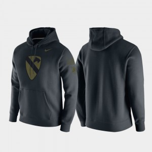 1st Cavalry Division College Hoodie Army For Men Anthracite