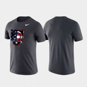 For Men's Army Black Knights College T-Shirt Anthracite Americana Legend Performance
