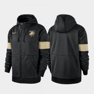 College Hoodie Army West Point Performance Full-Zip 2019 Sideline Therma-FIT Men Black