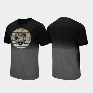 Dip Dye For Men's Black Army Black Knights College T-Shirt Fancy Walking