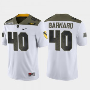 #40 Limited Edition 1st Cavalry Division Army For Men White Cade Barnard College Jersey