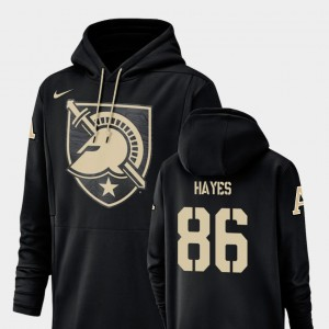 #86 Black Christian Hayes College Hoodie Football Performance Army West Point Men Champ Drive
