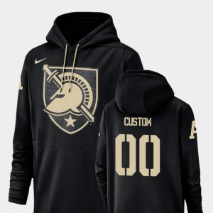 Black College Custom Hoodie Football Performance United States Military Academy Champ Drive #00 For Men's