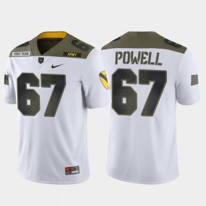 #67 Dean Powell College Jersey For Men's White Army West Point 1st Cavalry Division Limited Edition