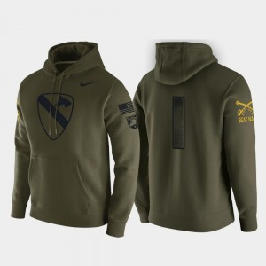 College Hoodie Army 1st Cavalry Division Green Pullover #1 For Men's