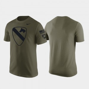 Army West Point Green For Men's 1st Cavalry Division College T-Shirt
