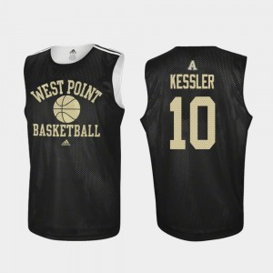 Practice Black #10 West Point Basketball For Men's Jacob Kessler College Jersey