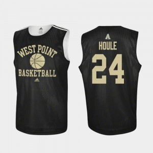 Jason Houle College Jersey Practice Men's #24 Army West Point Basketball Black