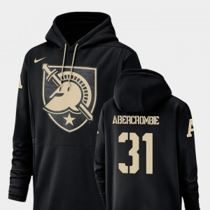 Army John Abercrombie College Hoodie Men #31 Black Champ Drive Football Performance