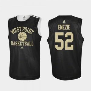 Mens #52 John Emezie College Jersey Basketball Practice Black Army