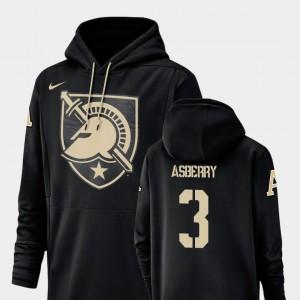 Champ Drive Army #3 Football Performance Black Jordan Asberry College Hoodie For Men