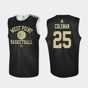 Jordan Coleman College Jersey Army Black Knights Black Basketball Practice #25 Men