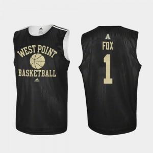 United States Military Academy Basketball Black Men's Practice Jordan Fox College Jersey #1