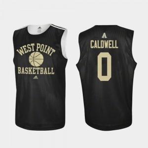 Black #0 Basketball Army Black Knights Josh Caldwell College Jersey Practice Men