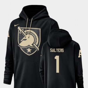 Landon Salyers College Hoodie United States Military Academy Football Performance Black Champ Drive For Men #1