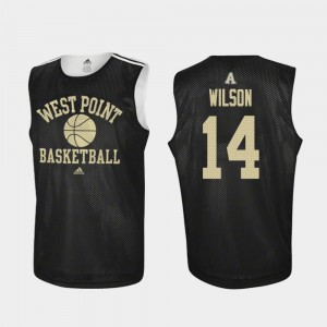 Black For Men #14 Matt Wilson College Jersey Basketball Practice Westpoint